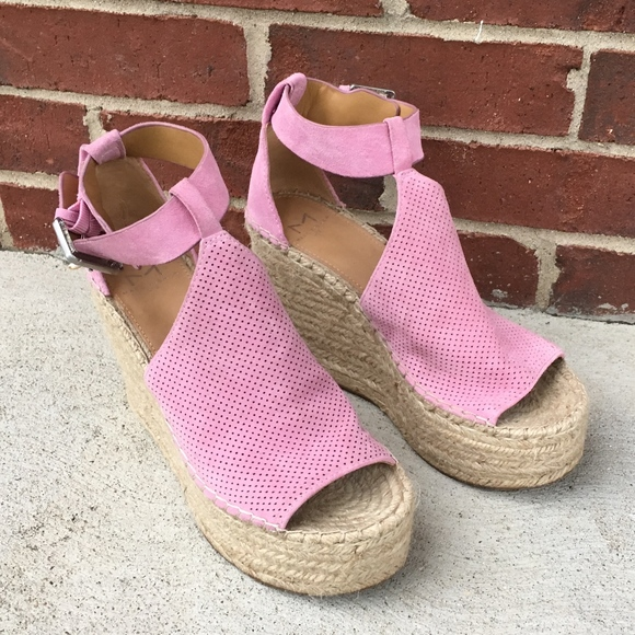 f032e95c0d1 Marc Fisher Annie Perforated Espadrille Wedge